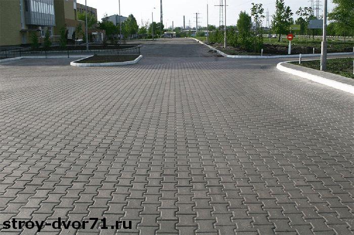 вибропрессованная тротуарная брусчатка