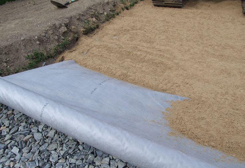 Материал под тротуарную плитку геотекстиль