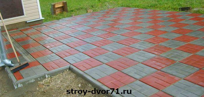 Цена м2 тротуарной плитки 400х400х50