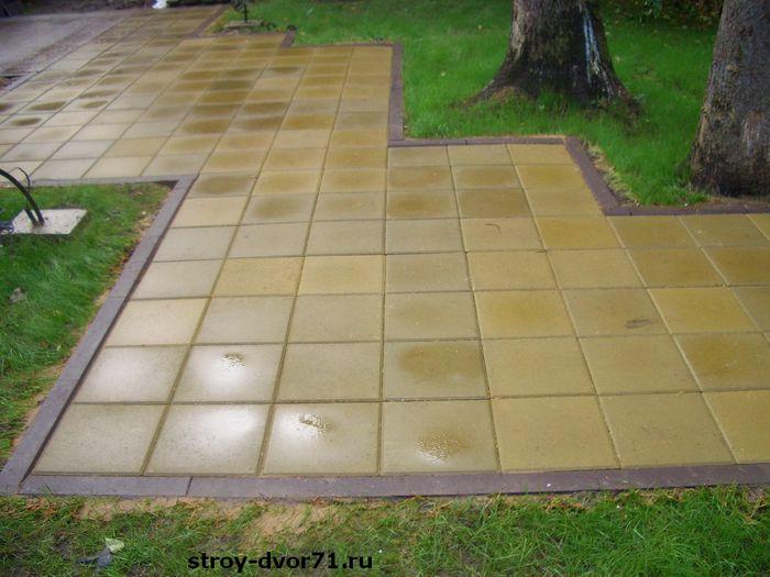 Вес тротуарной плитки 400х400х50