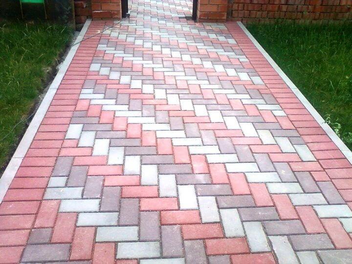 прямоугольная плитка для садовых дорожек
