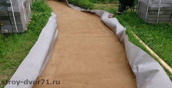 Дренаж при укладке тротуарной плитки на песок